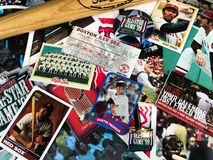 Boston Red Sox Legends Collage. A collage of memories related to the Boston Red Sox through the years Royalty Free Stock Image