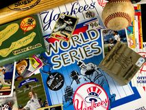 New York Yankee Collage. A collage of memories related to the New York Yankees through the years Royalty Free Stock Image