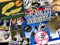 New York Yankees Legends Collage. A collage of memories related to the New York Yankees through the years Royalty Free Stock Images