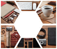 Collage of men's accessories royalty free stock photos