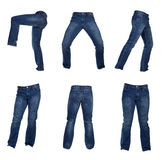 Collage of men jeans Royalty Free Stock Photos