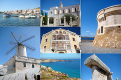 A collage of Menorca island, Spain Royalty Free Stock Images
