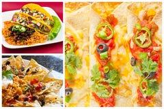 Collage messicano dell'alimento Fotografia Stock Libera da Diritti