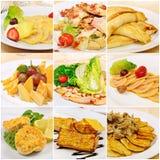 Collage met maaltijd stock foto
