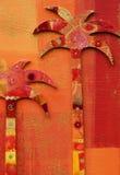 Collage met palmen Stock Afbeelding