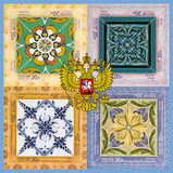 Collage met Wapens Stock Afbeelding