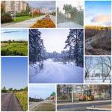 Collage met wegen Royalty-vrije Stock Afbeelding