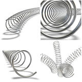 Collage. Metal springs Royalty Free Stock Photos