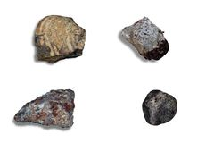 Collage meteorites Royalty Free Stock Image