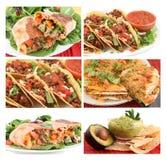 Collage mexicano del alimento fotografía de archivo