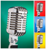 Collage of microphones Royalty Free Stock Images