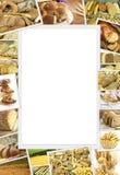 Collage mit Backwaren Stockfoto