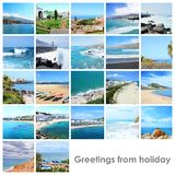 Collage mix with photos from holiday Royalty Free Stock Photo
