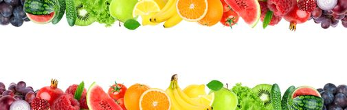 Collage of mixed fruit and vegetable royalty free stock image
