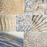Collage of mixed stone textures Royalty Free Stock Photo