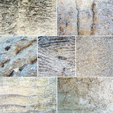 Collage of mixed stone textures Royalty Free Stock Photography