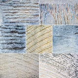Collage of mixed stone textures Stock Photography