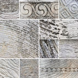 Collage of mixed stone textures. Stock Photo