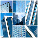 Collage moderno de los edificios Fotografía de archivo