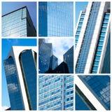 Collage moderno delle costruzioni Fotografia Stock