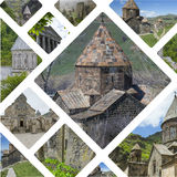 Collage of Monasteries ( Armenia ) images - travel background (m Royalty Free Stock Photo