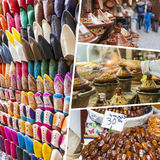 Collage of Morocco images - travel background (my photos) Royalty Free Stock Photography