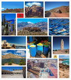 Collage of Morocco photo stock image