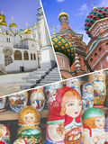 Collage of Moscow (Russia) images - travel background Royalty Free Stock Images