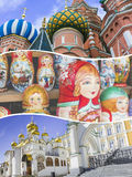 Collage of Moscow (Russia) images - travel background (my photos Royalty Free Stock Photos