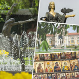 Collage of Most Beautiful and Breathtaking Places in Sofia - Bul Stock Photo