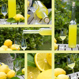 Collage with motifs of limoncello Stock Photo