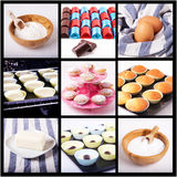Collage of muffin royalty free stock photography