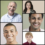 Collage of multi-ethnic people smiling Royalty Free Stock Photography
