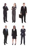 Collage of multiethnic business team Royalty Free Stock Image