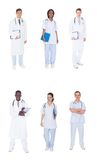 Collage of multiethnic doctors Royalty Free Stock Photography