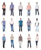 Collage of multiethnic people in casuals Royalty Free Stock Image