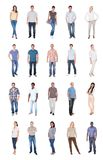 Collage of multiethnic people in casuals Stock Photo