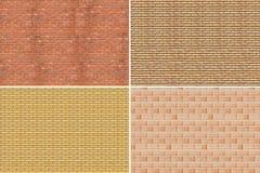 Collage. Muro di mattoni Immagini Stock