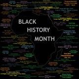 Collage negro del mes de la historia Fotografía de archivo