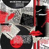 Collage nero-bianco-rosso Immagini Stock Libere da Diritti