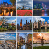 Collage of Netherlands travel images my photos Stock Photo