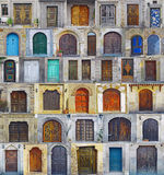 Collage of Nevhesir front doors,Cappadocia Royalty Free Stock Photography