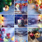 Collage new year Royalty Free Stock Photos