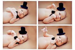 collage newborn baby Royalty Free Stock Photos