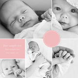 Collage of newborn baby's photos Royalty Free Stock Photography