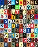 Newspaper numbers cut out as background royalty free stock photos