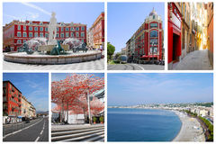 Collage of Nice in France  Royalty Free Stock Photos