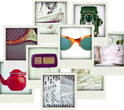 Collage of nine photos of vintage object Royalty Free Stock Images