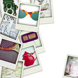Collage of nine photos of vintage object Stock Images