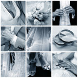 Collage of nine wedding photos Royalty Free Stock Photos